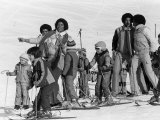 The Jackson 5 Performing in Switzerland on the Slopes  February 1979