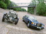 1991 Bentley Turbo R with 1930 Bentley 45 at Brooklands