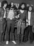 Jethro Tull Rock Group  Lead Singer Ian Anderson 2nd Right  Meledy Maker Awards