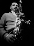 Jazz Performer Stan Getz at Ronnie Scott&#39;s Jazz Club  Master Tenor Saxophonist