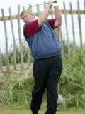 John Daly Practices at the Open 2004 at Royal Troon
