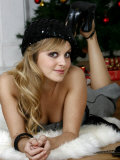 Coronation Street Actress Tina O'Brien Modelling Christmas Fashions