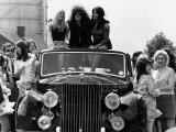 Marc Bolan Pop Singer Rides Roof of Rolls Royce 1972