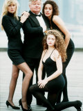 Comedian Benny Hill with Some of His Hill's Angels in 1989