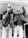 Pop Group Twins Matt and Luke Goss Popped Up on Radio One's Roadshow Singing Latest Hit Too Much