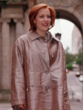 Star of the Television Program the X Files Actress Gillian Anderson in Glasgow