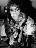 Alice Cooper American Rock Singer with Pet Snake 1986