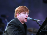Elton John Pop Singer at Ibrox Concert June 1998