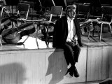 Composer Leonard Bernstein at Fairfield Hall During 1966 Rehearsal Concert