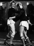 Kenny Dalglish and Mo Johnston Celebrate Goal 1984 Scotland V Spain at Hampden