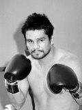 Roberto Duran Boxer in Palm Springs  October 1983