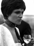 Actress Jacqueline Bisset Holding a Glass