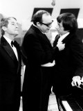 Andre Previn with Eric Morecambe and Ernie Wise During Recording of Morecambe and Wise Show  1971