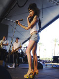 British Singing Star Amy Winehouse on Stage at Coachella Music Festival in California
