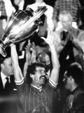 Graeme Souness of Liverpool Holds European Cup 1984  After Beating Roma 4-2 After Penalties
