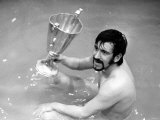 Rangers&#39; John Greig Celebrates with European Cup Winners Cup Trophy in the Bath May 1972