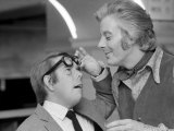 Comedians Ronnie Corbett and Danny la Rue at London Palladium During Royal Variety Show Rehearsals