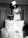 Alice Cooper American Rock Singer Jumps Out of a Birthday Cake 1975