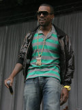 Kanye West on the Main Stage at the 2007 V Festival in Chelmsford