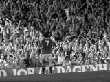 Arsenal V Leeds Liam Brady Celebrates His Goal with the Crowd  August 1978