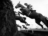 Grand National April 1987 Horses Jumping the Chair at Aintree