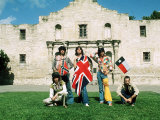 The Rolling Stones June 1975   Mick Jagger in Alamo  Texas Usa