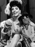 Liza Minnelli with Her Muppet Favorites Kermit the Frog and Zoot  During Rehearsals on Tuesday