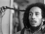 Jamaican Reggae Singer and Song Writer Bob Marley Duing an Interview For the Dail Mirror