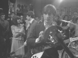John Lennon During Filming of the Beatles in the Ready Steady Go Studio 1964