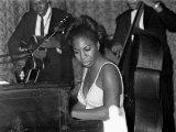 Jazz Singer Nina Simone  Performing at Annie's Club  June 1965