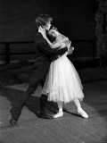 Rudolf Nureyev and Margot Fonteyn During Rehearsals at the Royal Ballet Covent Garden