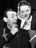 Eric Sykes Comedian and Actor with Hattie Jaques Actress Rehearsing a Sketch For a TV Show