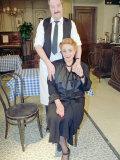 Rene and Madame Edith Artois in the BBC Sitcom Allo Allo