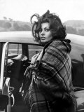 Italian Actress Sophia Loren Arriving at Crumlin Where She Filmed Scenes For the Film 'Arabesque'