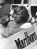James Hunt in His Marlboro Mclaren Racing Car 1978