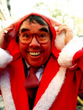 Ronnie Corbett Comedian Dresses as Father Christmas at a Charity Auction in London