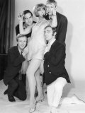 Comedy Actor John Cleese with Tim Brooke Taylor and Others in TV Comedy at Last the 1948 Show