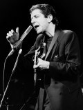 Leonard Cohen Canadian Singer Songwriter on Stage 1985
