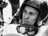 World Champion Racing Driver Jim Clark Wearing His Helmet and Goggles Round His Neck 1964