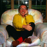 Ronnie Corbett at Home on Armchair March 1987