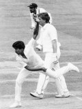 Cricketer Kapil Dev - Indian Fast Bowler in Action Against England at Lord's