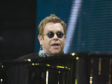 Elton John Performing at the Princess Diana Memorial Concert at Wembley Stadium