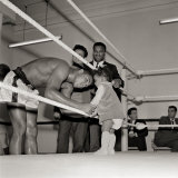 Cassius Clay  August 1966 with 12 Months Old Maria Morin Muhammad Ali