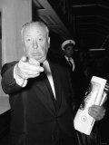 Alfred Hitchcock - Film Director - June1960 Pointing Finger at Photographer at Lap