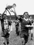 Footballer Liverpool FC Kenny Dalglish Graeme Souness Alan Hansen Celebrating Winning Championship