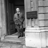 Alfred Hitchcock January 1959 Outside Bow Street Magistrates Court