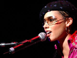 Alicia Keys on Stage at Clyde Auditorium in Glasgow  October 2002
