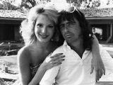 American Rock Singer Alice Cooper with Wife Sheryl Goddard at Beverly Hills Home