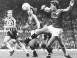 Norman Whiteside of Manchester United Pushes Past Gary Kelly the Newcastle Keeper