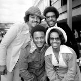Singer Gladys Knight and the Pips Pose For a Picture at Heathrow Airport 10th May 1973